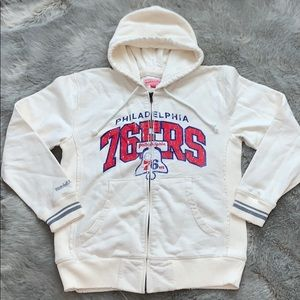 Vintage 76ers Zip Up Sweatshirt